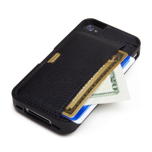 Silk iPhone 4/4S Wallet Case - Q CARD CASE [Slim Protective CM4 Cover] - Black Onyx by Silk (Image #1)