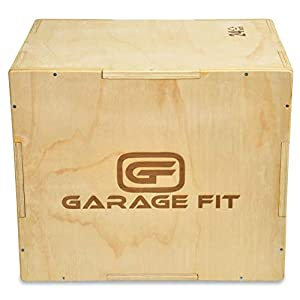 Well-Being-Matters 41ljd0yco4L._SS300_ Garage Fit Wood Plyo Box - 30/24/20, 24/20/16, 24/20/18, 16/14/12-3 in 1 Plyo Box, Essential for Plyometrics Training