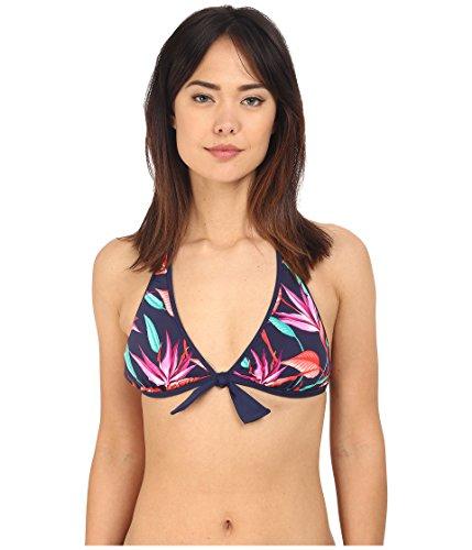 Tommy Bahama Women's Birds of Paradise Reversible Halter Bikini Top Mare Navy MD (US (Bahama Bikini Top)