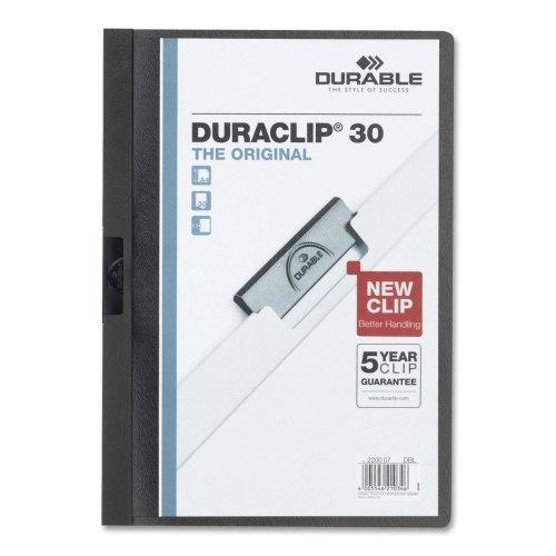 Wholesale CASE of 25 - Durable Duraclip Report Covers-DuraClip Report Cover, 30 Sheet Capacity, 11''x8-1/2'', Black