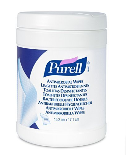 PURELL 9113-06-EEU00 Antimicrobial Wipes, 270 Count Canister by Purell