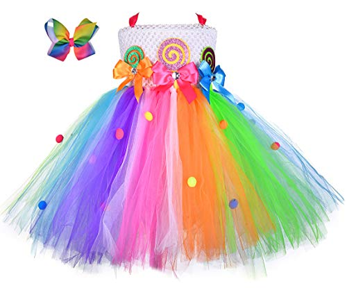 Tutu Dreams Girls Rainbow Candy Tutu Dress