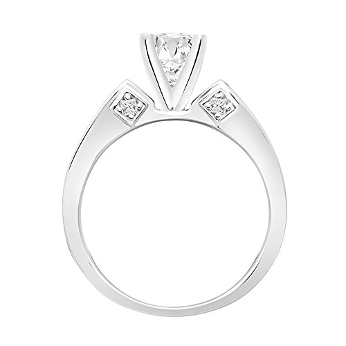 Certified 1.45 Ct White Round Cut Bridal Wedding Engagement Ring 14k White Gold Diamond