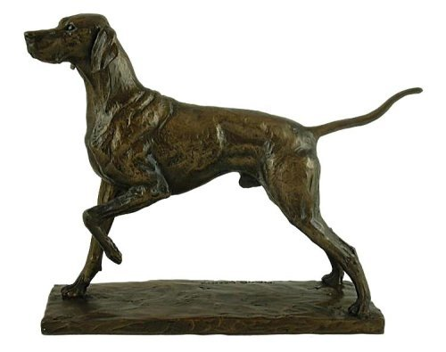 Bronze Pointer Dog Sculpture Signed David (Bronze Dog Statues)