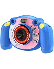 Excelvan Kids Camera HD Digital Camera 2 inch Screen Wide Angle 110 Degrees Mic Non-Slip and Anti-Drop Design Children's Day For 3-6 Year Old Children