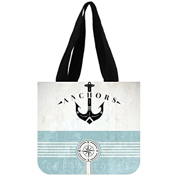 Amazon customized fashion vintage design template with anchor customized fashion vintage design template with anchor picture cotton canvas tote bag maxwellsz