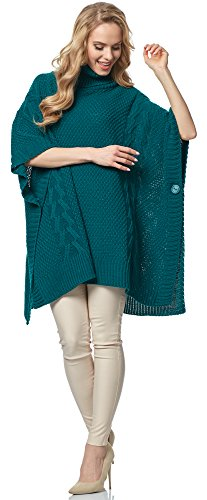 Verde Poncho Style Donna Scuro Msse0033 Merry nxY0I8Uqq
