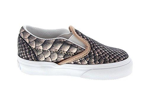 Vans Toddler's Classic Slip-On (Metallic Snake) Rose Gold/True White First Walkers Shoes (8 M US (Kid Snake Girl Sneaker)