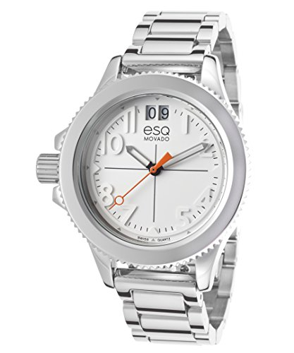 Esq Movado 7101404 Women's Fusion Stainless Steel White Dial Watch ()