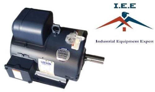 7.5 HP 1740 RPM 215T Single Phase Leeson Compressor Motor # (0.1 Hp Motor)