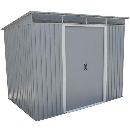 (Duramax 50371 Pent Roof Galvanized Steel Storage Shed, 8-5/8'W x 6-1/16'D x 6-5/8'H, Lot of)