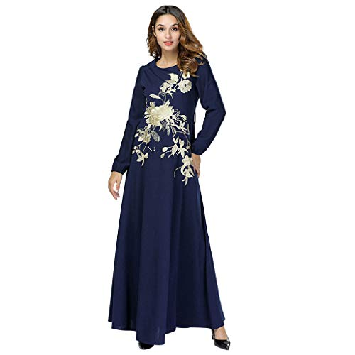 (HYIRI Women's National RobeBig Skirt Muslim Middle Eastern Long Dress)