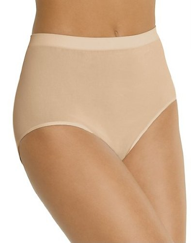 Bali Women's 3-Pack Solid Microfiber Full Brief Panty,P27-3 Nude,7