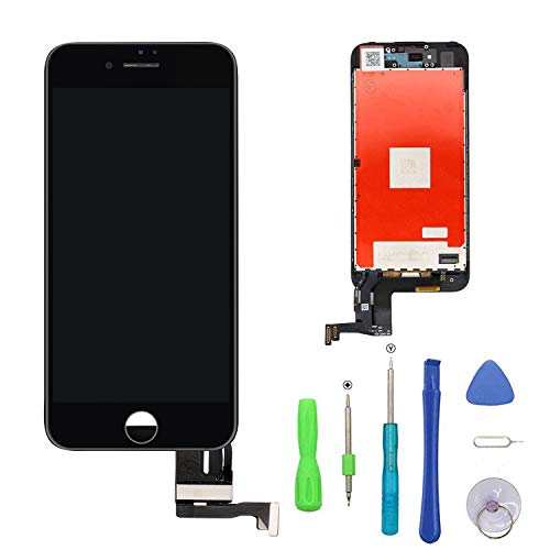 FFtopu Compatible with iPhone 7 Plus Screen Replacement Black, LCD Display Touch Screen Digitizer Frame Assembly Set with 3D Touch and Repair Tools