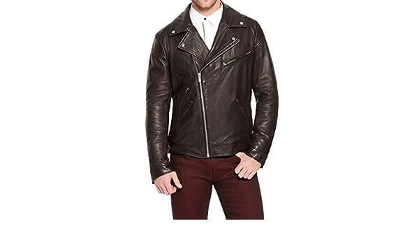 New Mens Biker Lambskin Leather Jacket LT236
