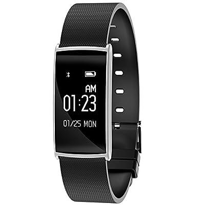 Huaker Bluetooth Smart Wristband Blood Pressure Heart Rate Blood oxygen Smart band Waterproof Pedometer Wearable Bracelet