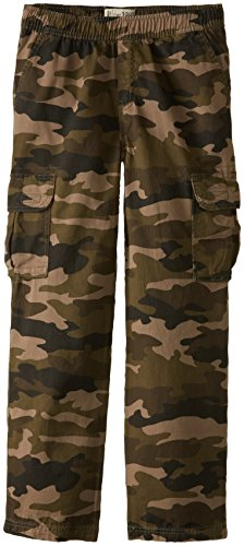 The Children's Place Big Boys' Pull-On Cargo Pant, Olive Camo, 12