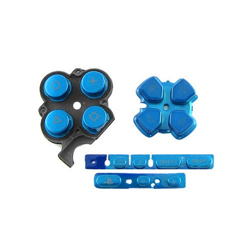 OSTENT Buttons Key Pad Set Repair Replacement Compatible for Sony PSP 3000 Slim Console - Color Blue