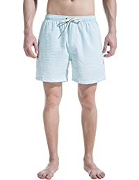 Akula Men's Beachwear Sufing Boardshorts Strips Design Swim Trunk