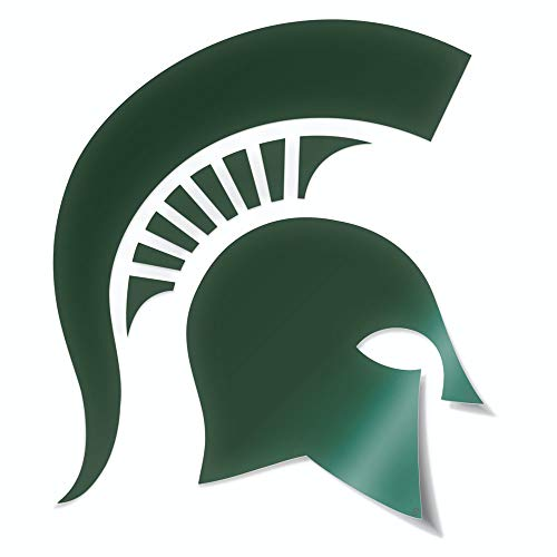 Nudge Printing Classic Michigan State University Spartan Helmet Sparty Head MSU Car Decal Sticker (Green)