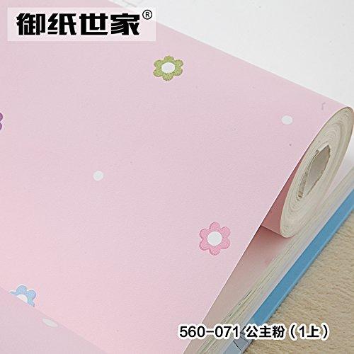 modern-minimalist-bedroom-fresh-flower-wallpaper-warm-pastoral-childrens-room-wallpapera