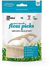Humble Natural Dental Floss Picks - Flossers - Dental Floss Sticks - 4 x 50 stuks
