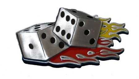 Flaming Dice Belt Buckle Las ()