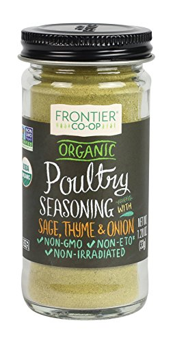 Frontier Poultry Seasoning Certified Organic, Salt-Free Blend, 1.2-Ounce Bottle ()