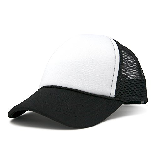 DALIX Baby Girls Boys Toddler Cap Trucker Hat Caps Childrens Infant Kids Hats (Black-White)