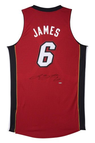 Lebron James Signed Uniform - Upper Deck Certified - Autographed NBA Jerseys (Authentic Nba Jersey Red Reebok)