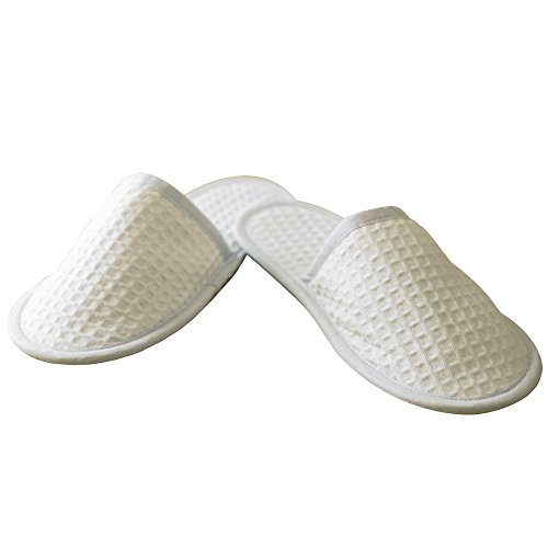 Towel City Waffle mule slippers to8uH2p5pz