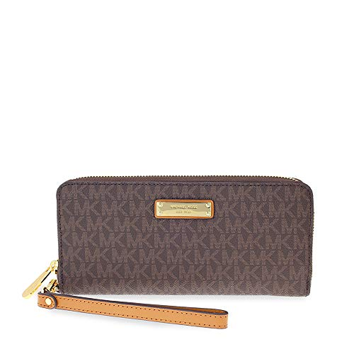 Michael Kors Jet Set Continental Wristlet - Brown ()