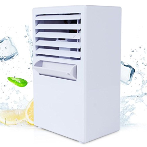 Inverlee Portable Air Conditioner Fan Mini Evaporative Air Circulator Cooler Humidifier (Solar Evaporative Cooler)