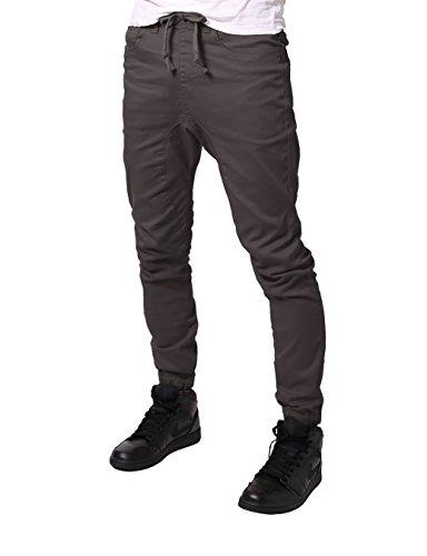 Corduroy Pants Fit Slim - JD Apparel Men's Slim Fit Drawstring Harem Jogger Pants M Charcoal