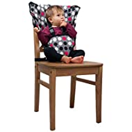 Polka Dot Cozy Cover Easy Seat Portable High Chair - Quick Convenient Cloth Travel High Chair Fits in Your Hand Bag Easy