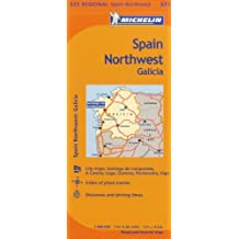 Michelin Spain: Northwest, Galicia / Espagne: Nord-Ouest, Galice Map 571