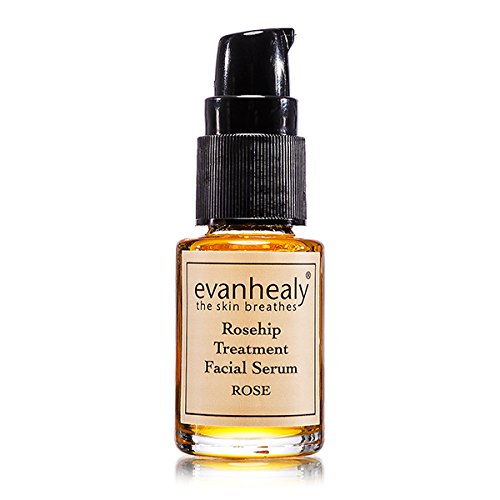 evanhealy Rosehip Treatment Facial Serum – Rose for All Skin Types Especially Dry Oily Teen and Combination with Certified Organic Rose Otto Sandalwood and Carrot Oils, Cruelty Free Vegan, 0.5 Ounce