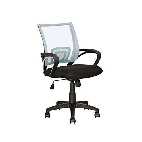 CorLiving LOF-310-O Workspace Mesh Back Office Chair, White