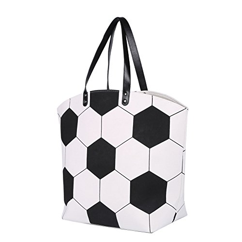 - E-FirstFeeling Large Soccer Tote Bag Sports Prints Utility Tote (Soccer Style)