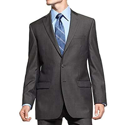 Calvin Klein Slim Fit Blazer Herringbone Charcoal New Men's Sport Coat
