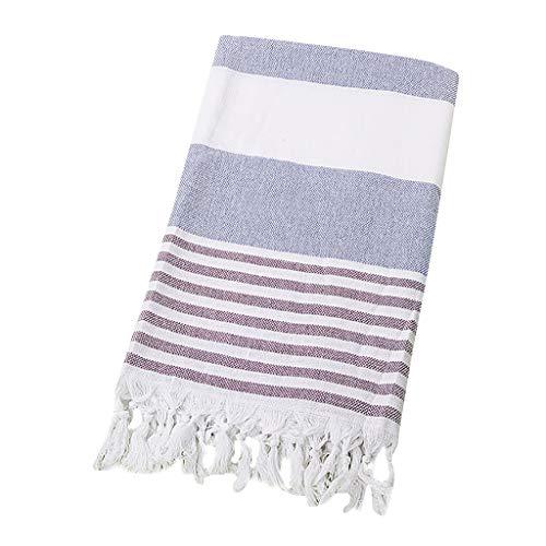 (HJuyYuah Turkish Cotton Bath Beach Spa Sauna Yoga Fringed Jacquard Towel)