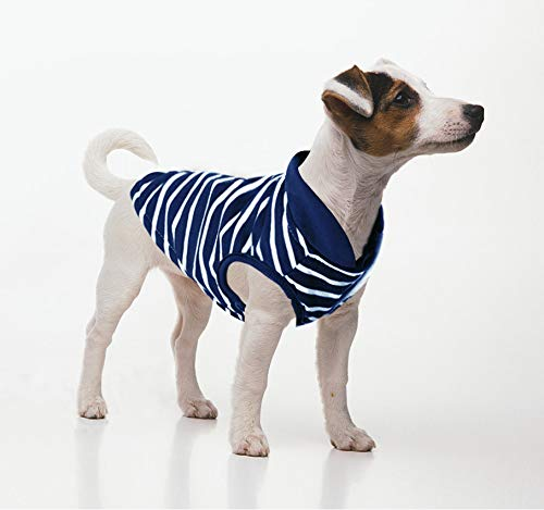 - Idepet Pet Dog Clothes Warm Striped Sweater Pet Puppy Clothes for Small Dog Clothing Teddy Chihuahua Winter Sweater (L, Blue)