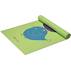 Gaiam Kids Yoga Mat Exercise Mat, Yoga for Kids with Fun Prints - Playtime for Babies, Active & Calm Toddlers and Young Children, Birdsong, 3mm