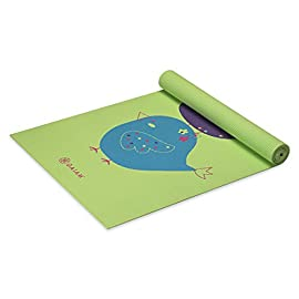 Gaiam Kids Yoga Mat Exercise Mat, Yoga for Kids with Fun Prints – Playtime for Babies, Active & Calm Toddlers and Young…