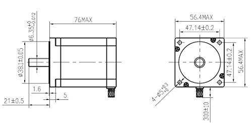 dc house 3 axis nema 23hs8430 stepper motor 270oz-in  3a  u0026