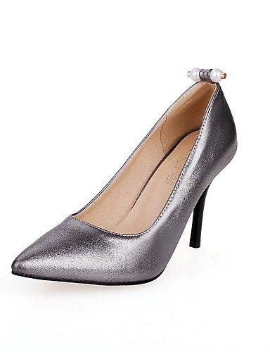 GGX/Damen PU massiv Pull auf Spitz geschlossen Zehen Spikes Absätzen pumps-shoes gray-us6 / eu36 / uk4 / cn36