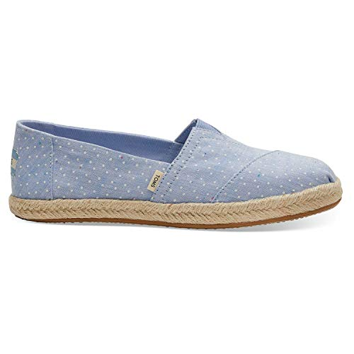 - TOMS Bliss Blue Tiny Chambray Dots Women's Espadrilles 10013520 (Size: 8)