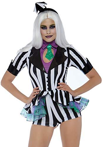 Leg Avenue Women's Costumes, Black/White, Small