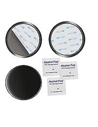 AEBTYKJ Disco de montaje adhesivo de 80 mm para tableros de instrumentos GPS Disco de tablero de instrumentos de smartphone para Tom Tom Garmin Montaje de ventosa de ventosas de cámara de tablero de navegación por satélite (azul-3 paquetes)