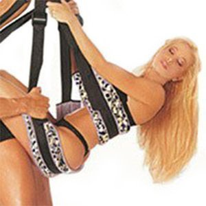 Lovers Strap Bondage Restraints Swing for Couples Indoor Sex Swings Leopard Print